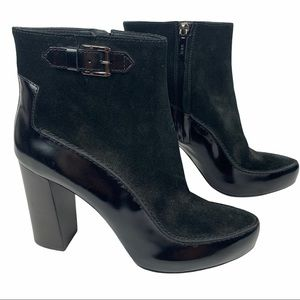 Tod's Classic Suede and Patent Leather Ankle Boots